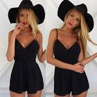 Harness Jumpsuit Women Sexy Black Playsuit Bodycon Party Clubwear Romper combina