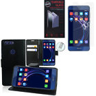 Cases for Huawei Honor 8 Phone Briefcase + Tempered Glass Film