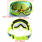 US Yellow Frame Anti UV Ski Goggles Snowboard Outdoor Eyewear Dual Lens Unisex