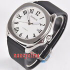 Parnis 40mm white dial blue dial sapphier glass 5ATM Miyota date automatic watch