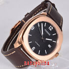 Parnis 40mm black dial sapphier glass rose gold case 5ATM Miyota automatic watch