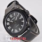 Parnis 40mm black dial sapphier glass PVD case 21 jewels Miyota automatic watch