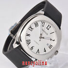 Parnis 40mm white dial brushed case sapphier crystal Miyota date automatic watch