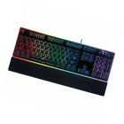 ROSEWILL Gaming Keyboard, RGB LED Backlit Wired Membrane Mechanical Feel Keyboar
