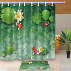 Water Lily And Koi In Pond ShowerCurtainSet WaterproofFabric&Hook71Inch