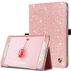 For Samsung Galaxy Tab Bling Magnetic Smart Flip Stand Leather Tablet Case Cover