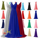 Long Chiffon Formal Evening Gown Ball Wedding Party Prom Bridesmaid Dresses