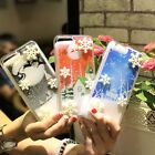 Stereoscopic snowflake flow sand shell Anti fall shell For iPhone 6/6P/6s/7/8/8p