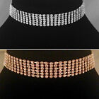 Gold/Silver classic 6 Row Choker/Necklace,bride,bridesmaid,prom,party SV16-SM06