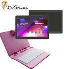 Dual SIM 3G 10.1'' Tablet PC Android 6.0 4+64GB HD Wifi+Keyboard+Stand Case