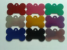 Pet Tags Bone Shaped Anodised Aluminium Engraved Dog Cat Tags Discs Disk A275
