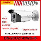 Hikvision Original English DS-2CD2T42WD-I8 4MP IR 80m security IP Network Camera