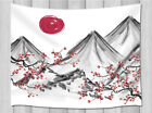 Japan Mount Fuji Cherry Branch Wall Hanging Tapestry Smooth Supple Fabric