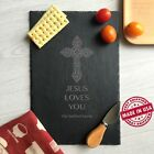 Christian Cross,Custom Slate Board,Jesus loves you