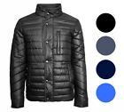 Mens Fashion Winter Puffer Jacket Warm Water Resistant Zipper 100% Polyester NWT