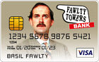 Basil Fawlty - Fawlty Towers Novelty Plastic Credit Card