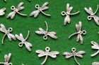 Dragonfly Antique Silver Tone Tibetan charm Craft Jewellery Pendant