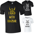 I RIAD WITH RAGNAR Vikings Norsemen Viking Mens Funny Novelty Tshirt Tee Top