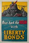 1918 Beat Back the HUN with Liberty Bonds Frederick Strothmann WWI Poster