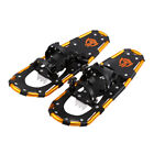 Enkeeo Outdoor Aluminum Snowshoes Kit with Carry Bag Black and Orange Winter US