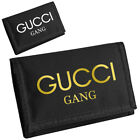 Lil Pump GUCCI GANG Gold Wallet Bag Music Rap Hip Hop Ripper Velcro Zipper Money