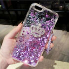Girls Bling Glitter Sparkle Liquid Quicksand Case Cover For iPhone X 6S 7 8 Plus