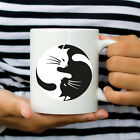 Cat Mug Yin Yang Coffee or Tea Cup Unique Cat Lover Gift Clever Kitten Present