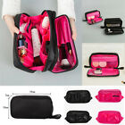 Внешний вид - Salons Double Zipper Cosmetic Makeup Brush Bag Case Organizer Nylon Storage Kit
