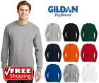 Gildan Dry Blend Long Sleeve T Shirt Blank Solid Mens 50/50 Wicking Casual 8400 image