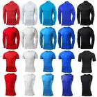 Mens Under Skins Compression Top Exercise Base Layer Shirt Gym Wear Shirts Tops