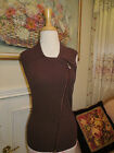 CACH'E BROWN SLEEVELESS STRETCH TOP SHIRT SIZE L NEW WITH TAG