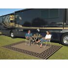 Reversible Outdoor Patio Mat RV TRAILER Beach Camping Picnic Carpet (9' x 12') R