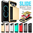 For Samsung Galaxy S6 edge Plus Wallet Cards Holder Pocket Silicone Case Cover