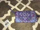 Vera Bradlet Front Zip Wallet Lilac Tapestry