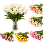 Artificial Flower Bouquet Tulip Rose Real Touch Bridal Wedding Supply Home Decor