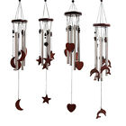 Classic Wood & Metal Tube Wind Chimes Garden / Indoor Hearts Moon Dolphins Stars