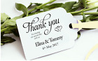 """40-200 Personalised """"Thank You For Sharing"""" Wedding Favour Tags inc Ribbon TSC01"""