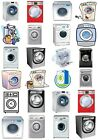 65 Mixed Washing Machines Small Sticky White Paper Stickers Labels NEW