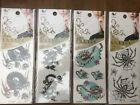 VARIOUS TEMPORARY TATTOO'S - Black/Colour/Scorpions/Dragons/Roses/Leg/Body/Arm