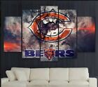 5 Panel Chicago Bears Sport Canvas HD Prints Painting Wall Art Home Decor