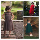 Baby Girls Princess Lace Party Wedding Dress Patchwork Kids Summer Cosplay Skirt