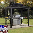 Outdoor Grill BBQ Cupola Frame Roof Garden Yard Patio Pool Summer Porch Charcoal
