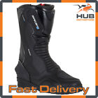 Spada Aurora Motorcycle Motorbike Short Leather Touring Boots - Black