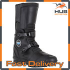 Spada Chunk Motorcycle Motorbike Leather Touring Boots - Black