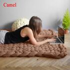 Handmade Chunky Knitted Blanket New Comfy Wool Thick Line Yarn Throw Home Decor