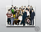 RICKY GERVAIS - Characters Minimalist Poster Art Posteritty Office Brent Millman