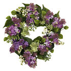 """20"""" Hanel Lilac Wreath/Nearly Natural/#4786/Pink/Purple/Green"""