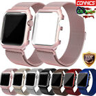 Milanese Stainless Steel iWatch Band Strap+Cover Case F Apple Watch Series 3/2/1 image
