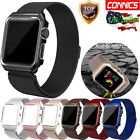 Apple Watch Series 3 2 1 Case Milanese Stainless Steel iWatch Band Strap 38/42MM image