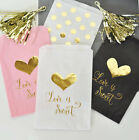 24 Love Is Sweet Wedding Gold Pink White Black Candy Buffet Party Favor Bags